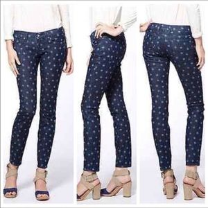 Lucky Brand NWT Charlie skinny jeans blue ikat 12